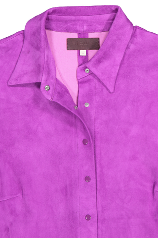Front collar detail image of STOULS Garett Suede Blouse