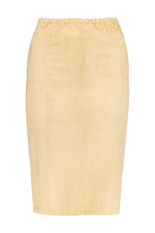 Front image of STOULS Gilda Suede Skirt Sinai