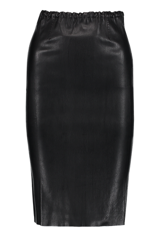 Gilda Leather Pencil Skirt Noir