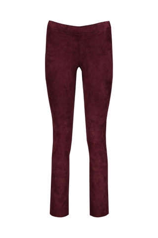 JACKY CROPPED SUEDE LEGGING PURPLE