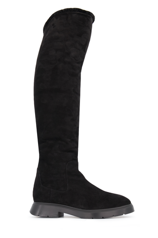 Side view extended view image of Stuart Weitzman Women's Luiza Chill Suede Shearling Boot