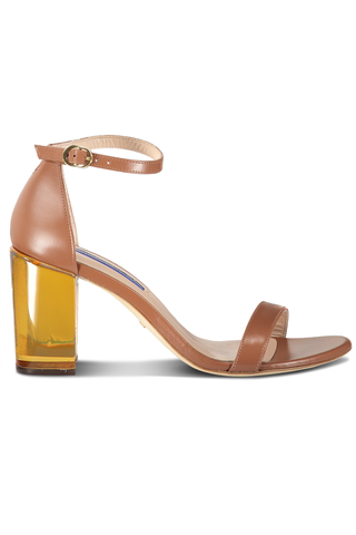 Nearly Nude Lucite Sandal