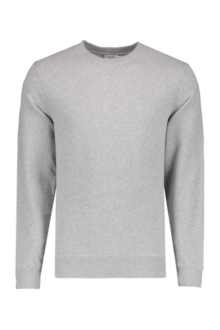 Long Sleeve Loopback Sweatshirt Grey Melange