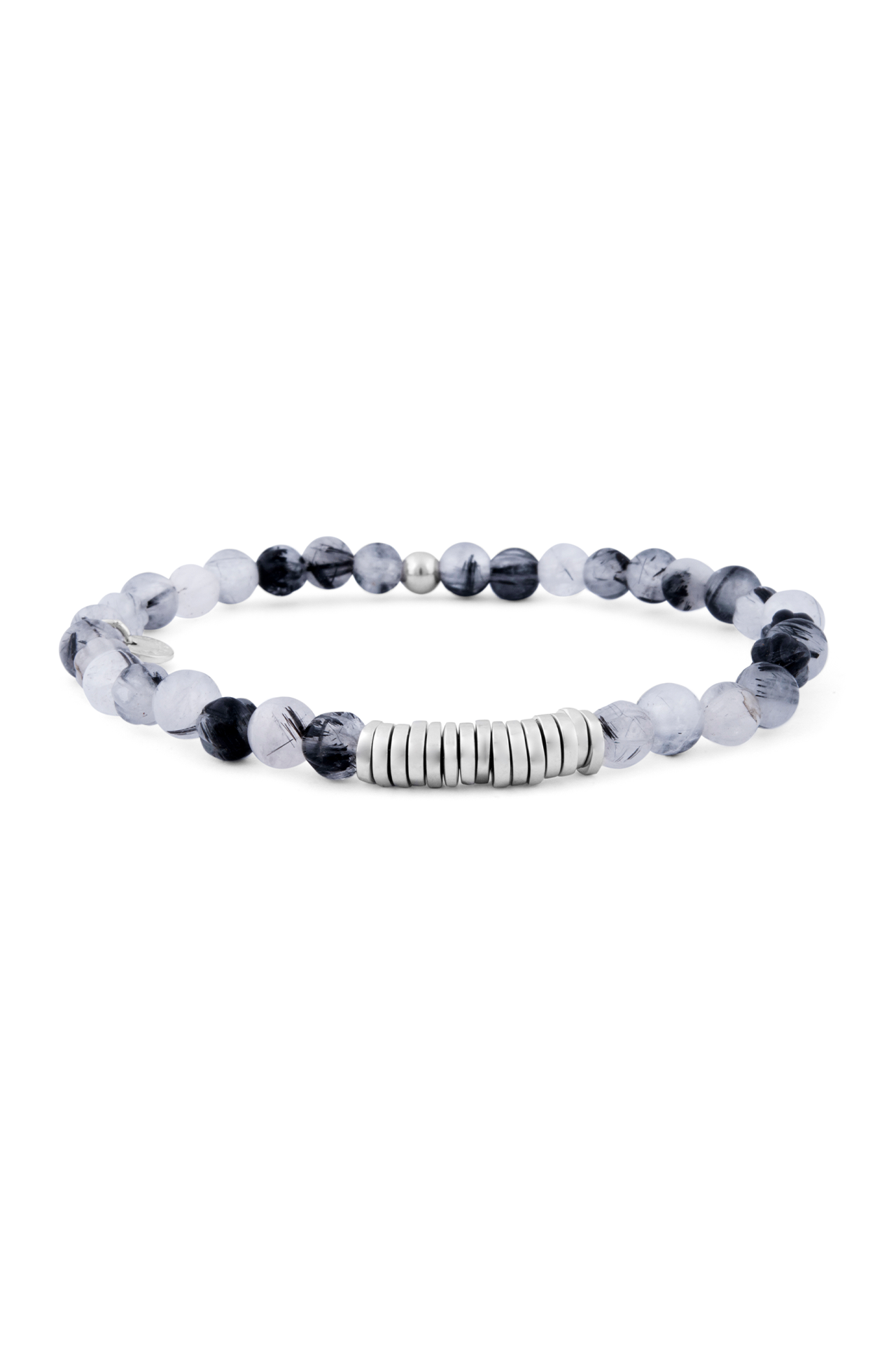Rutilated Quartz Classic Discs Bracelet