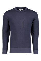 Front view image of The GoodPeople Larry Sweatshirt Navy