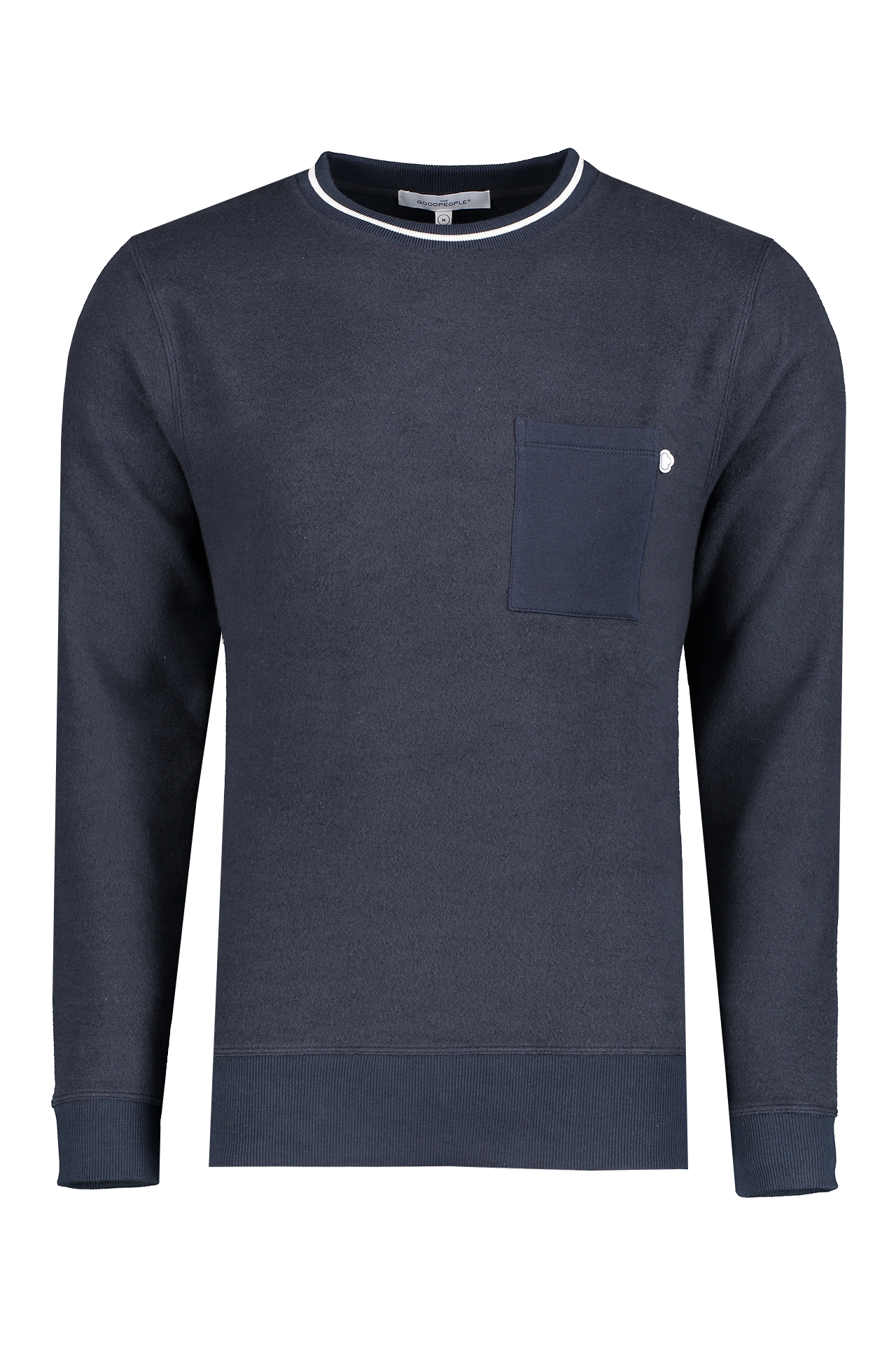 Front view image of The GoodPeople Levi Sweater Navy
