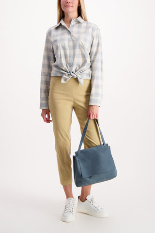 Full Body Image Of Model Wearing Theory Basic Pull On Pant