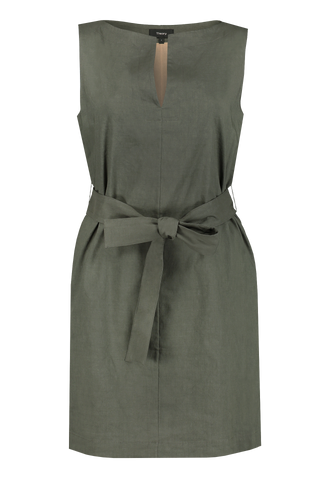 Belted Shift Dress Thyme