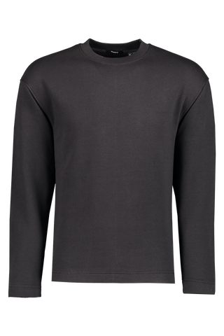 Front view image of Theory Men's Box Sweatshirt Black