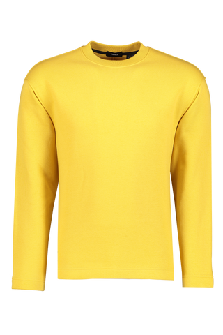Front view image of Theory Men's Box Sweatshirt Citrus Crewneck