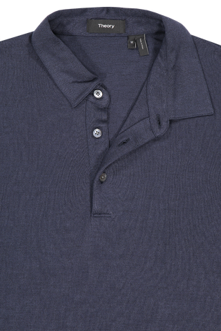 Front collar detail image of Theory Men's Bron Shirt Eclipse Multi