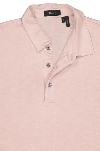 Front collar detail image of Theory Men's Bron Shirt Quartz