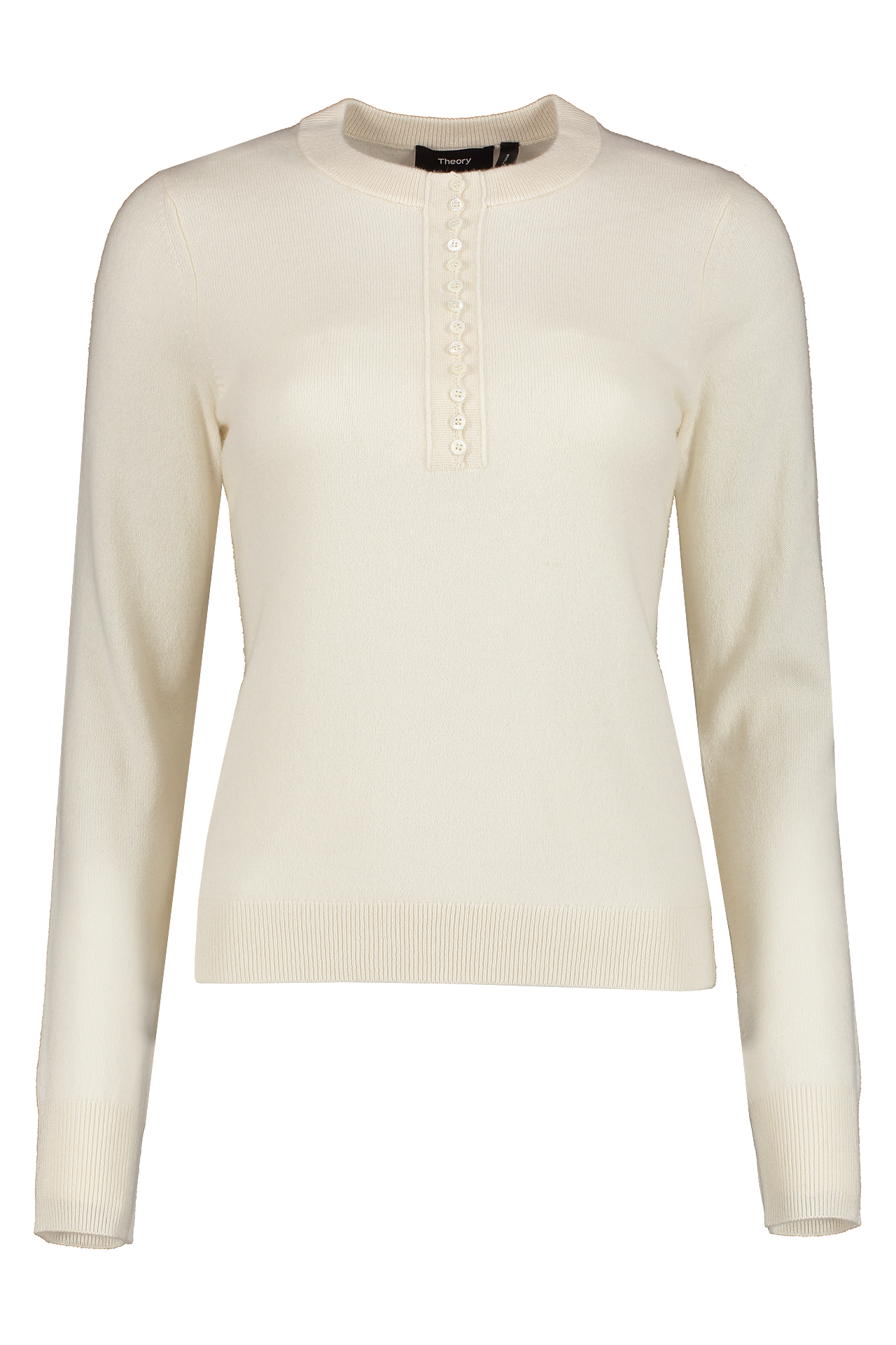 Front Image of Theory Women's Button Placket Henley