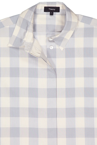 Collar Detail Image Of Theory Classic Menswear Shirt