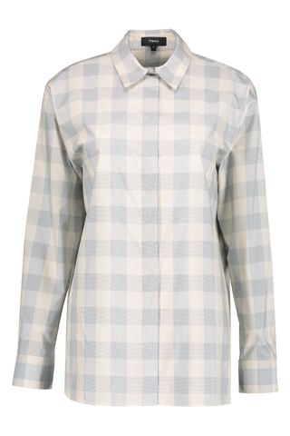 Front Image Of Theory Classic Menswear Shirt