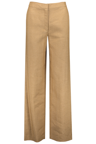 Front image of Theory Clean Trouser Hay Beige