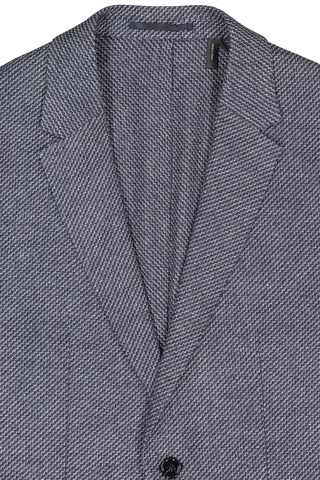 Front collar and lapel detail image of Theory Men's Clinton Sportcoat Larimar Multi
