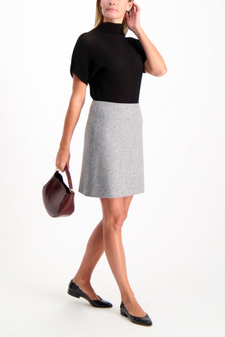 Full Body Image Of Model Wearing Theory Women's Easy Waist Skirt
