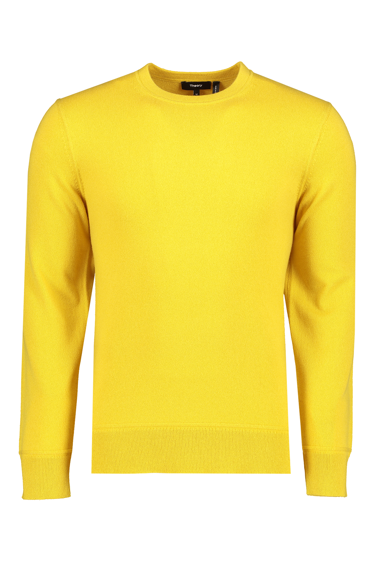 Front view image of Theory Men's Hilles Crewneck Citrus