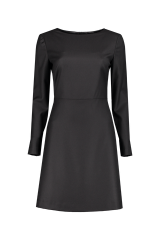 Front view image of Theory Women's Kamillina Long Sleeve Dress