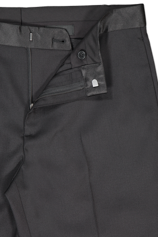 Waistline and zipper detail image of Theory Men's Mayer Tuxedo Pant Prosperous