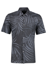 Front image of Men's Theory Menlo Printed Leaf Short Sleeve Woven