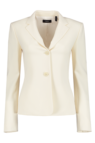 Front Image of Theory Women's Pleat Blazer Rice