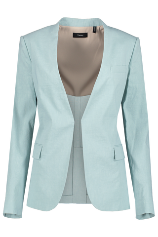 Front view image of Theory Staple Blazer Sky