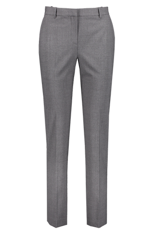 Front view image of Theory Women's Tailored Trouser Charcoal