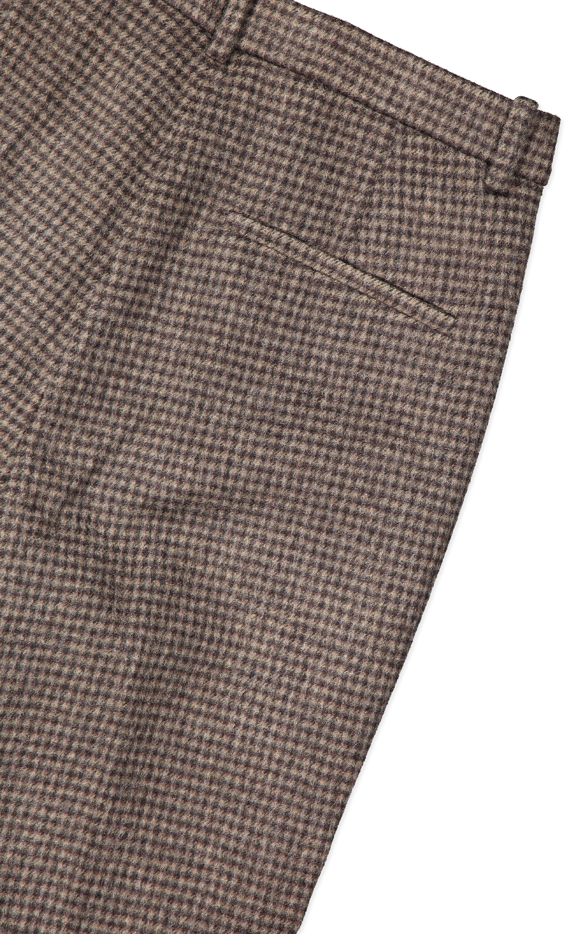 Back pocket detail image of Theory Women's Tailored Trouser Brown Multi