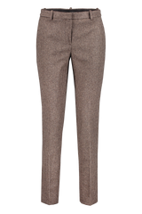 Front view image of Theory Women's Tailored Trouser Brown Multi