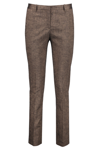 Front image of Theory Tailored Trouser Beige Clay