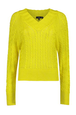 Textured Pullover Bright Lime