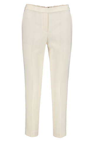 Front view image of Theory Women's Trecca Pull On Pant Off White