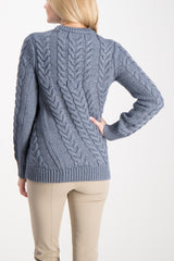 Twisting Cable Pullover Sweater