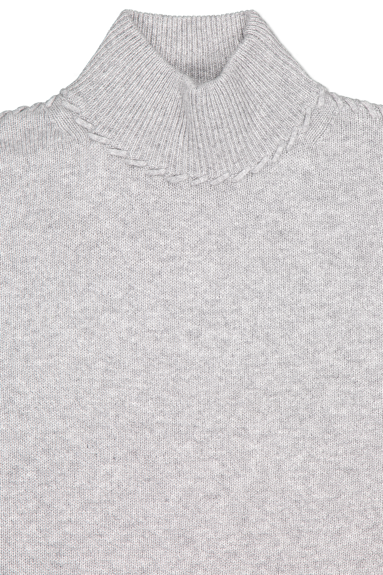 Front collar detail image of Theory Women's Whipstitch Cashmere Turtleneck