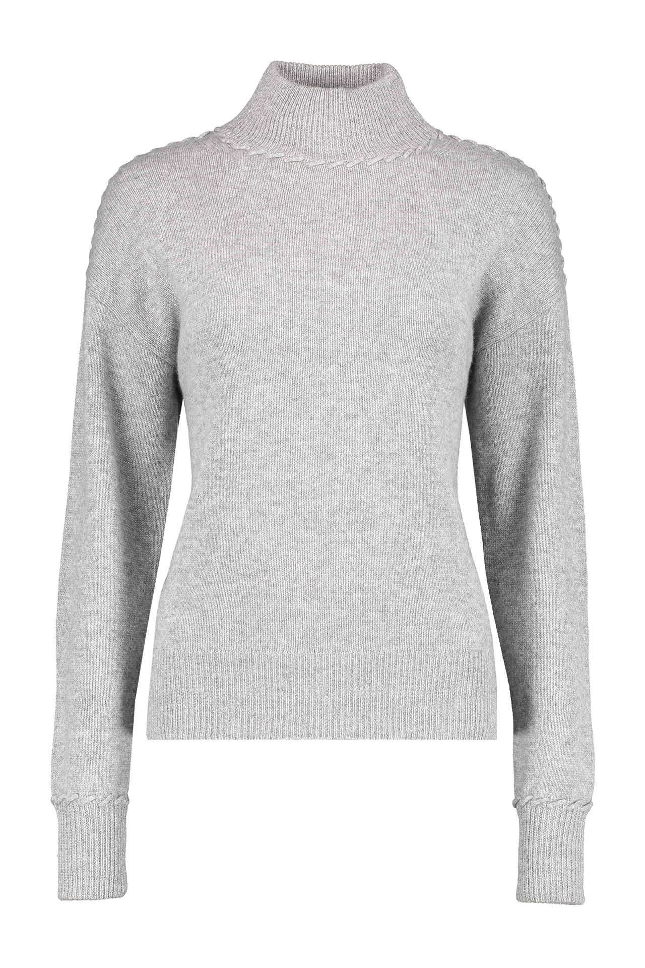 Front view image of  Theory Women's Whipstitch Cashmere Turtleneck