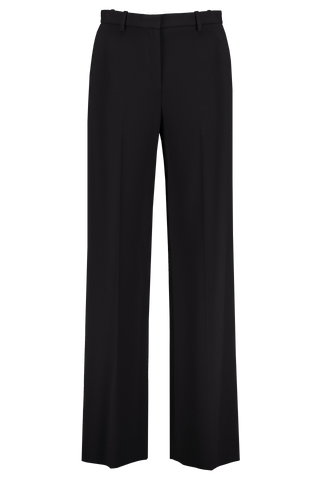 Front view image of Theory Women's Wide Leg Trouser Black