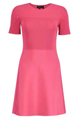 Front view image of Theory Women's Otto Flare Dress Pink