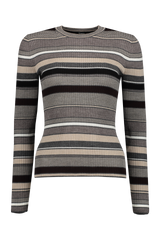 Women's Stripe Crewneck Sweater