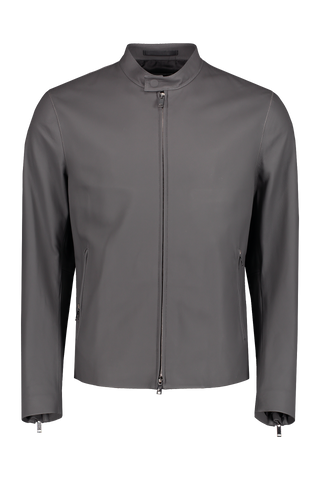 Front view image of Theory Men's Wyndsor Leather Jacket