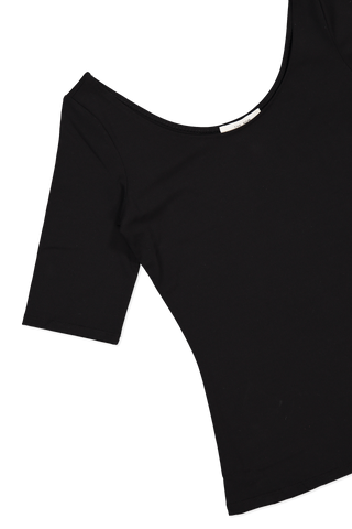 Sleeve detail image of The Row Atlo Top Black