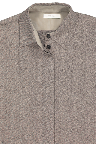 Front collar detail image of The Row Big Sisea Shirt