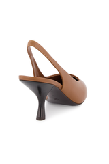 Heel Image of The Row Bourgeoise Sling Pump in Caramel