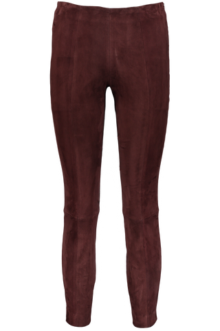 Cosso Suede Pant In Mahogany