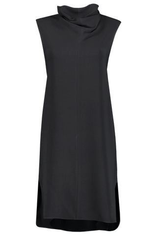 Front image of The Row Dorma Dress Black