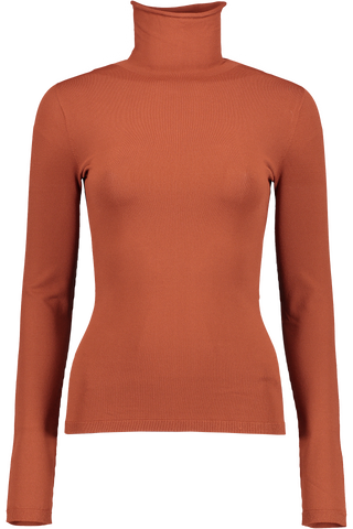 DRONIA TURTLENECK TOP RUST