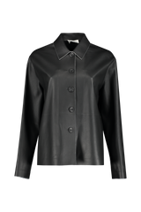 Front view image of The Row Frim Leather Jacket