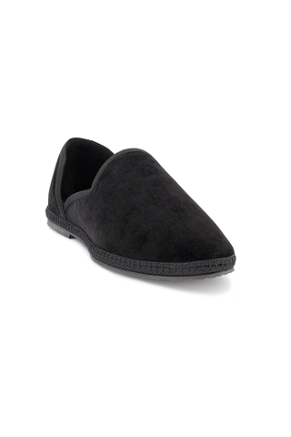 Front angle image of The Row Friulane Loafer Black