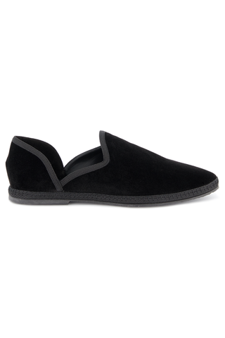 Front image of The Row Friulane Loafer Black